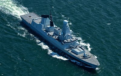 HMS Duncan, D37, British destroyer, Royal Navy, Daring-class, British warships, air-defence destroyers