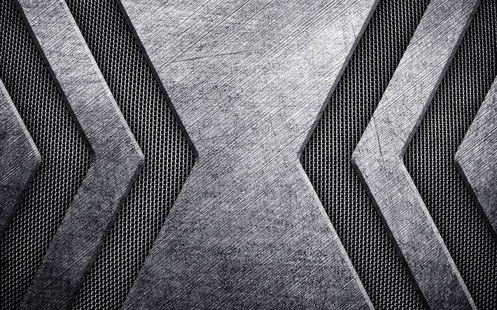Download Wallpapers Grunge Metallic Texture Steel Metal