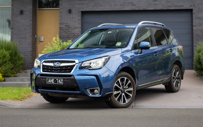 download wallpapers subaru forester xt 2017 cars crossovers blue forester subaru for desktop. Black Bedroom Furniture Sets. Home Design Ideas
