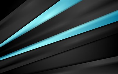 blue lines, 4k, dark background, art, abstract material