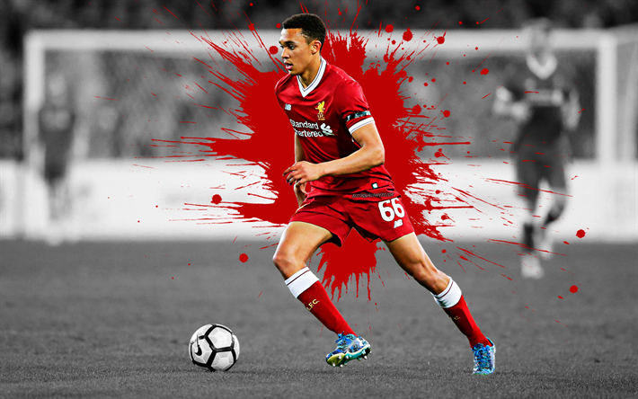 Download Wallpapers Trent Alexander Arnold 4k Art Liverpool Fc English Football Player Splashes Of Paint Grunge Art Creative Art Premier League England Football For Desktop Free Pictures For Desktop Free