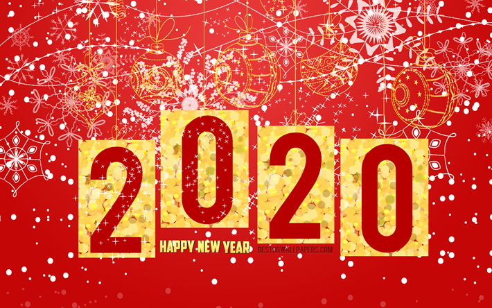 Red Christmas Background Colorful Wallpaper New Year 2020