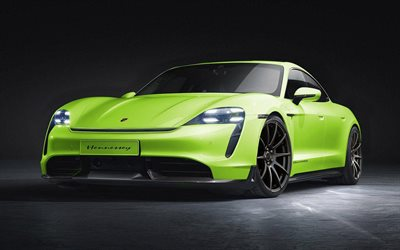 Hennessey, tuning, Porsche Taycan, supercars, 2019 cars, green Taycan, 2019 Porsche Taycan, german cars, Porsche