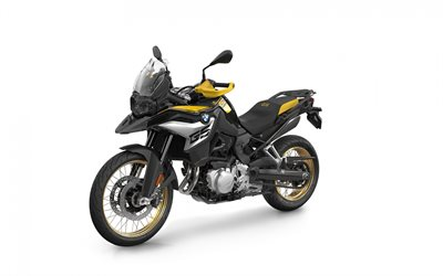 BMW F 850 GS, Adventure Edition 40 Years GS, 2020, exterior, white background, new F 850 GS, german motorcycles, 40 Years GS Edition, BMW