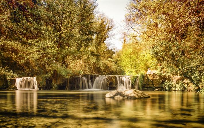 foto de Télécharger fonds d'écran chute d'eau lac forêt automne