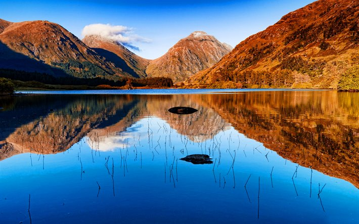 Download Wallpapers 4k Scotland Autumn Mountains
