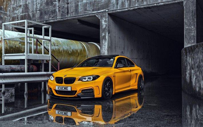 Download wallpapers 4k, BMW 2-series MH2 400, rain, tuning, 2019 ...