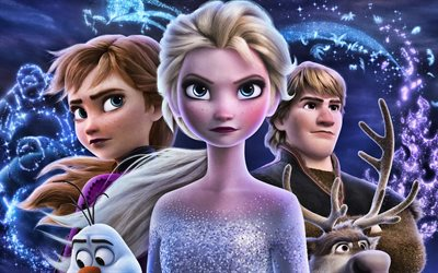 Frozen Two, 4k, poster, 2019 movie, Frozen 2, Disney, Frozen II
