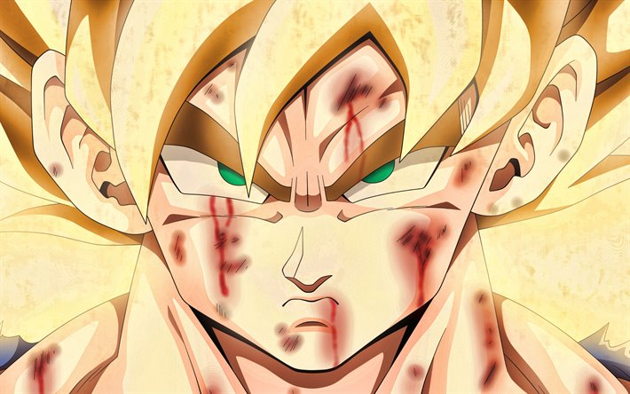 Download Wallpapers Golden Goku 4k Goku Ssj3 Portrait