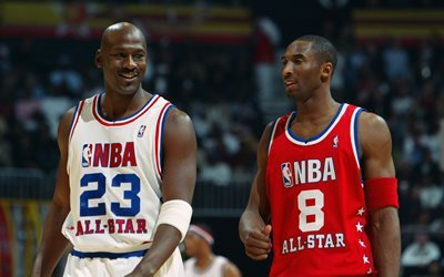 de basket-ball, All-Stars jeu, Michael Jordan, Kobe Bryant, NBA