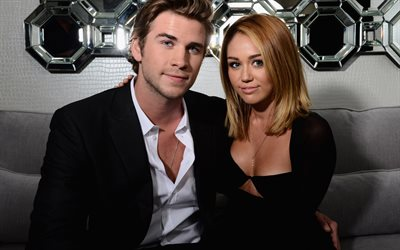 Liam Hemsworth, Miley Cyrus, American celebrities, actors, photosession