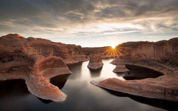 Download imagens Lake Powell, Utah, Estados Unidos, Reflexão ...