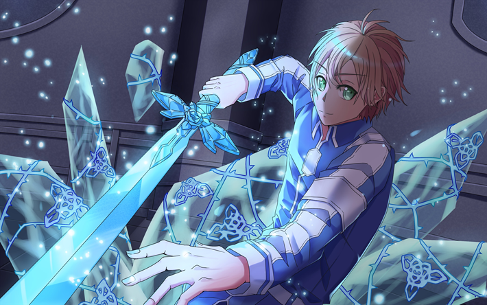 Download Wallpapers 4k Eugeo Blue Sword Artwork Sword