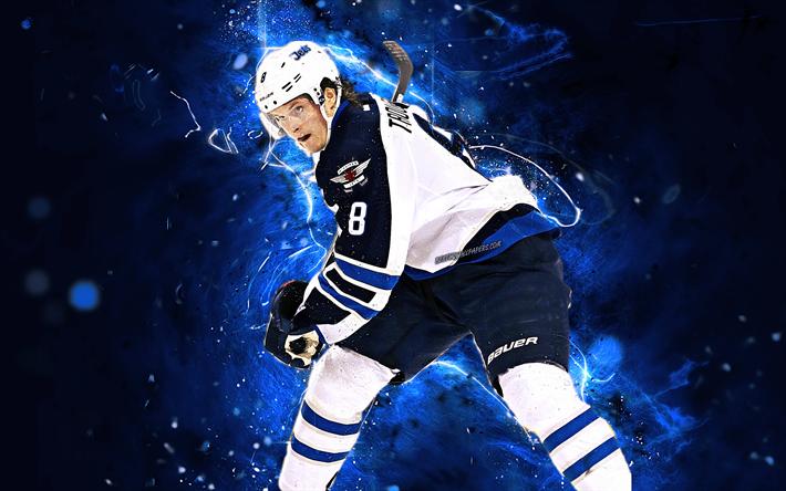 Download Wallpapers Jacob Trouba Hockey Players Winnipeg Jets Nhl Hockey Stars Trouba Hockey Neon Lights For Desktop Free Pictures For Desktop Free