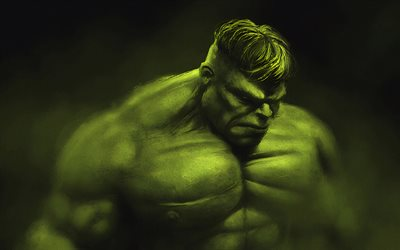 Hulk, fog, superheroes, creative, artwork, Angry Hulk, monster