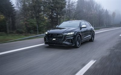 2020, Audi SQ8, ABT Sportsline, exterior, black luxury SUV, Q8 ABT, new black SQ8, german cars, Audi