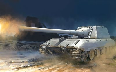 Panzerkampfwagen E-100, german tank, E-100, World War II, Germany, painted tanks