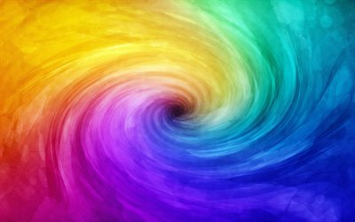 colorful vortex background, artwork, vortex, rainbow backgrounds, creative, colorful backgrounds, wavy textures, colorful twirl background, abstract backgrounds