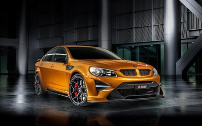 Holden HSV GTSR, australian cars, 2017 cars, orange HSV, sedans, Holden