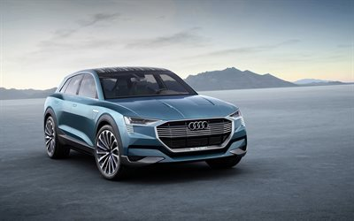 Audi e-tron Quattro, 2018 cars, SUVs, luxury cars, Audi