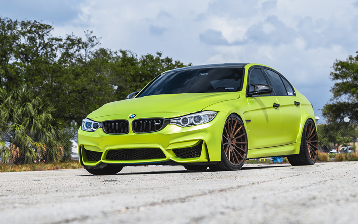 Download wallpapers BMW M3, 2018, F80, sports coupe ...