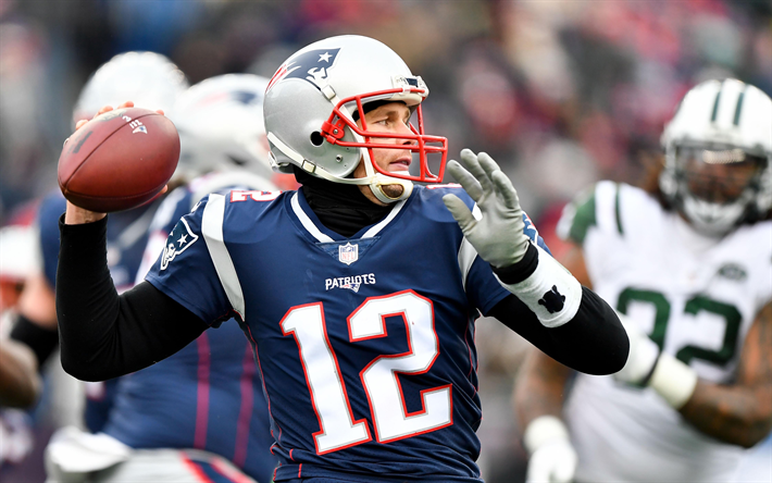 Download Wallpapers Tom Brady, 4k, New England Patriots