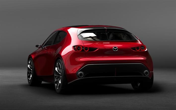 Download Wallpapers Mazda Kai Concept 2017 4k Rear View New