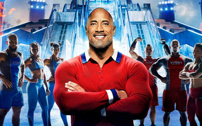 The Titan Games, TV show, 2019 movie, Dwayne Johnson, poster