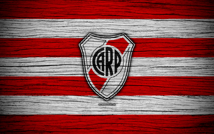 Download Wallpapers River Plate 4k Superliga Logo Aaaj