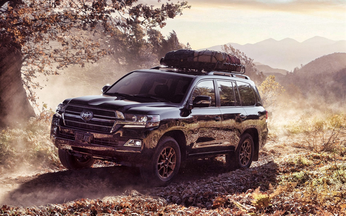 Download Wallpapers Toyota Land Cruiser 200 Dust Offroad