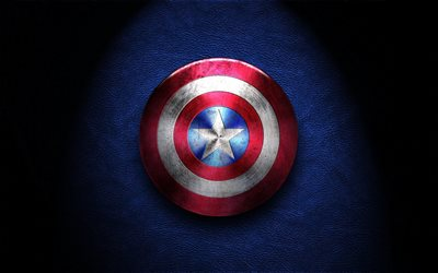 Captain America shield, logo, superheroes, darkness, Captain America