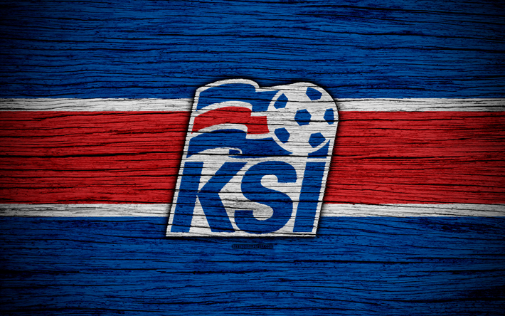 download wallpapers 4k iceland national football team logo europe