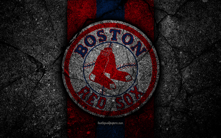 premium selection f137a d7116 4k, Boston Red Sox, logo, MLB, baseball, USA, black stone. We offer you to download  wallpapers ...