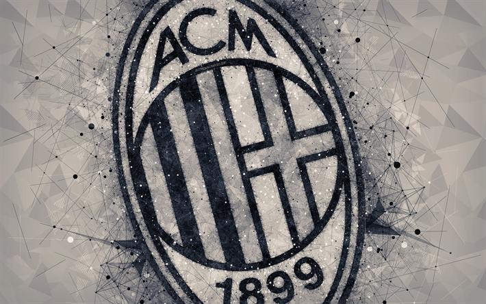 ダウンロード画像 Acミラン 4k ロゴ 創造の幾何学的な美術 エクストリーム ゾー アエンブレム イタリアのサッカークラブ ミラノ イタリア サッカー フリー のピクチャを無料デスクトップの壁紙