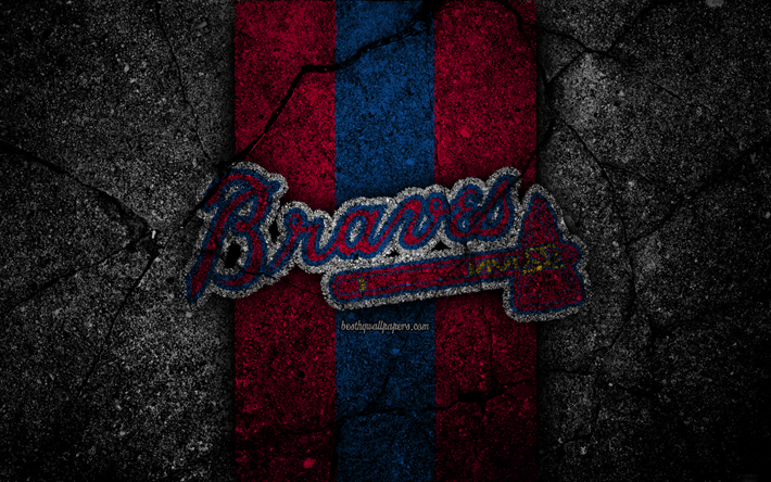 Atlanta Braves Wallpapers 62 Images: Download Wallpapers 4k, Atlanta Braves, Logo, MLB