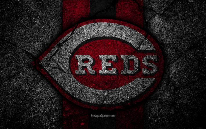 4k Cincinnati Reds Logo MLB Baseball USA Black Stone
