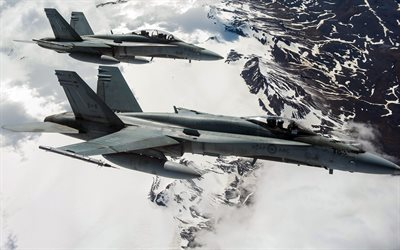 McDonnell Douglas CF-18 Hornet, Fighters, military aircraft, Canadian Air Force