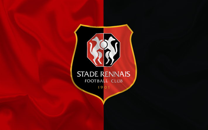 Download wallpapers stade rennais football club football club france ligue 1 football - Stade rennais logo ...