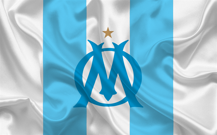Download wallpapers olympic marseille football club - Marseille logo foot ...
