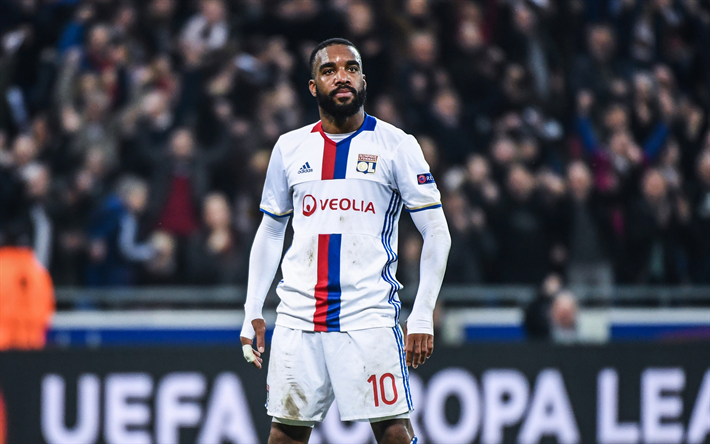 Download Wallpapers Alexandre Lacazette, French Football