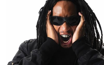 Lil Jon, Jonathan Smith, American rapper, DJ, portrait, black glasses