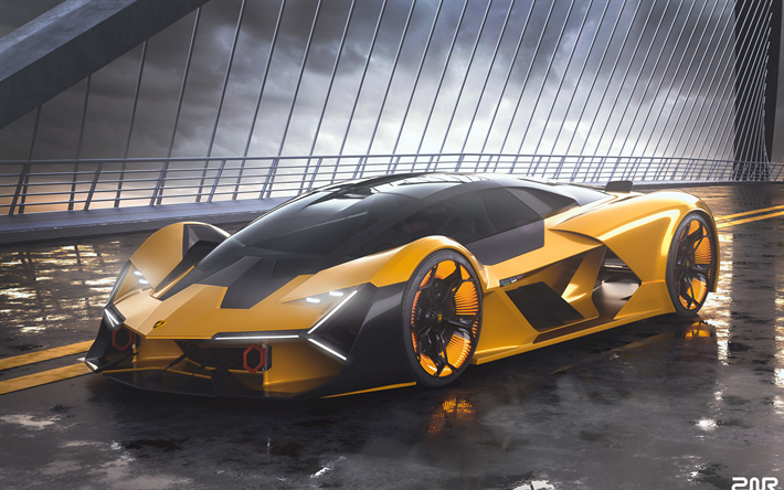 Download Wallpapers 4k Lamborghini Terzo Millennio Street