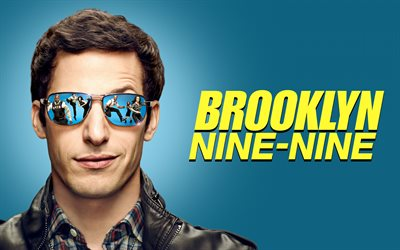 Brooklyn Nine Nine, 2019, American TV series, poster, promotional materials, main character, Jake Peralta, Andy Samberg