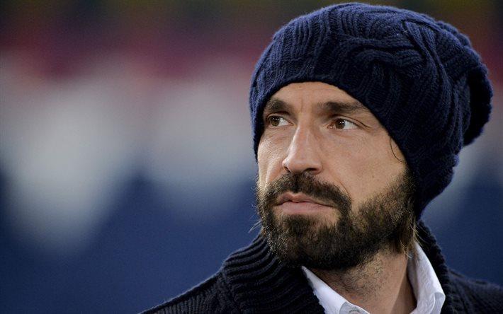 Scarica sfondi andrea pirlo ritratto calcio italiano for Sfondi animati juventus