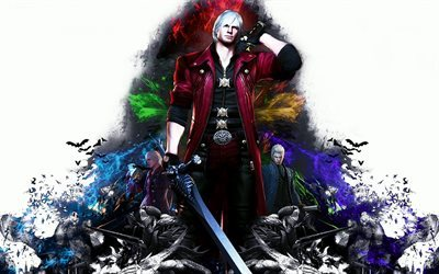 Devil May Cry 4, special edition, Dante, Nero, Vergil