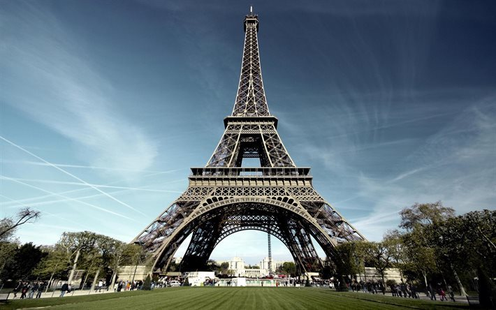 Eiffel Tower, Paris, Champs Elysees, France