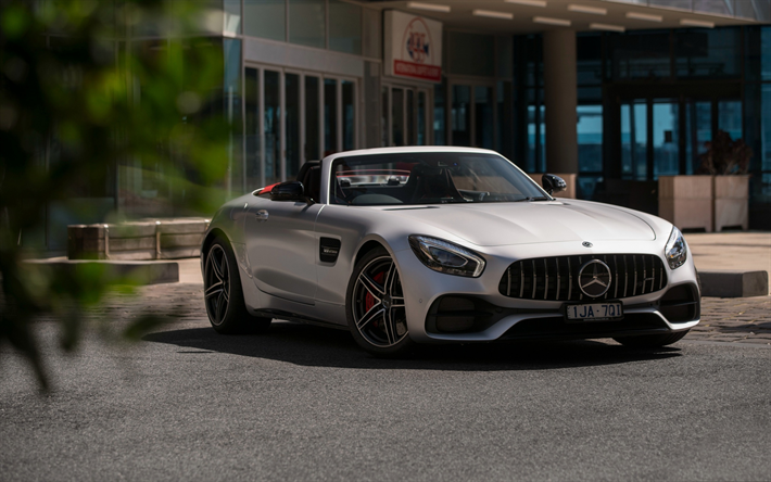 Top 100 Sport Luxury Exotic Cars For 2018: Download Wallpapers 2018, Mercedes-Benz GT C AMG, Roadster