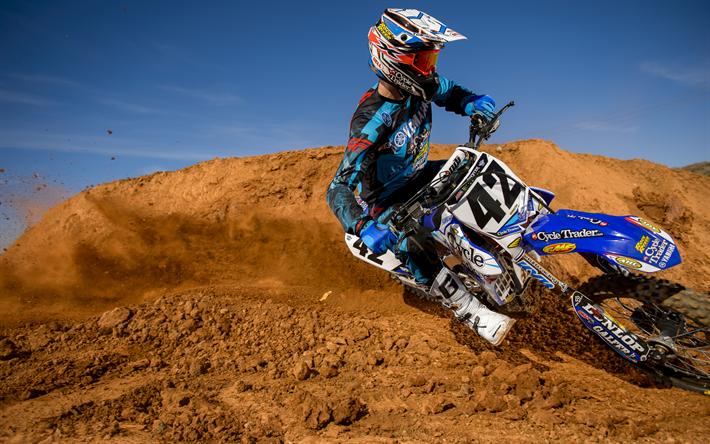 Download Wallpapers Ben Lamay, 4k, Motocross, Honda