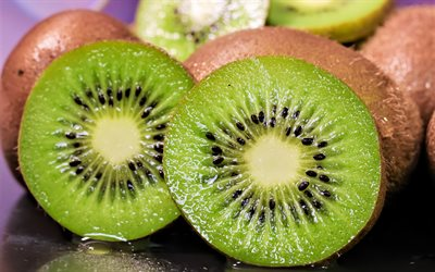 kiwi, fruit, vitamin C-rich fruit, background with kiwi, green fruits