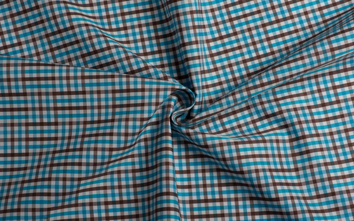 plaid fabric texture, swirling fabric background, swirling fabric texture, fabric background, blue brown plaid fabric texture